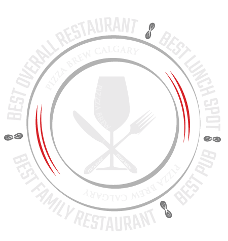 Pizza Brew is the winner of Calgary Herald Readers Choice awards for Best Overall Restaurant, Best Lunch Spot, Best Family Restaurant