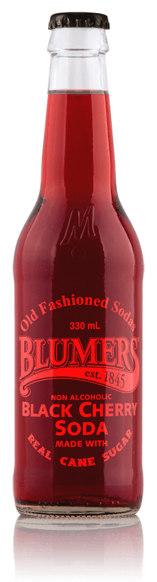 Blumers Old Fashioned Soda Black Cherry with Real Cane Sugar
