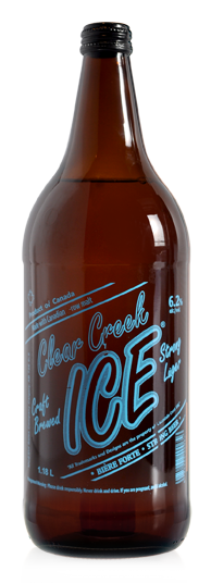 Clear Creek Ice Extra Strong Beer - Malt Liquor brewed in Calgary by Minhas Brewery