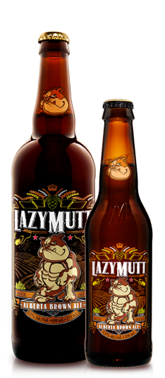 Lazy Mutt Alberta Brown Ale brewed in Calgary by Minhas Brewery