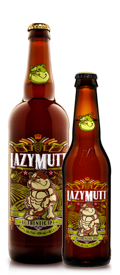 Lazy Mutt Authentic IPA brewed in Calgary by Minhas Brewery