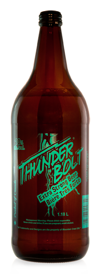 Thunder Bolt Extra Strong Beer - Malt Liquor brewed in Calgary by Minhas Brewery