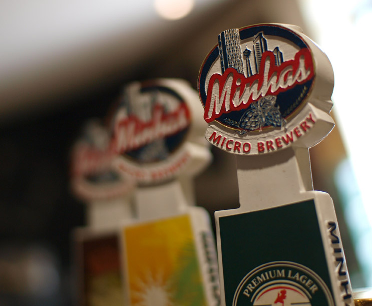 Visit the Minhas Micro Brewery's Tap room - Pizza Brew to taste some of the best craft beers we brew