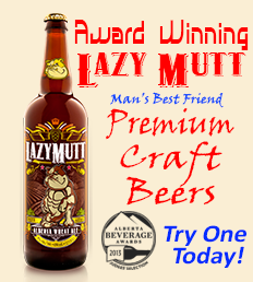 Try Premium Award Winning Lazy Mutt Brews